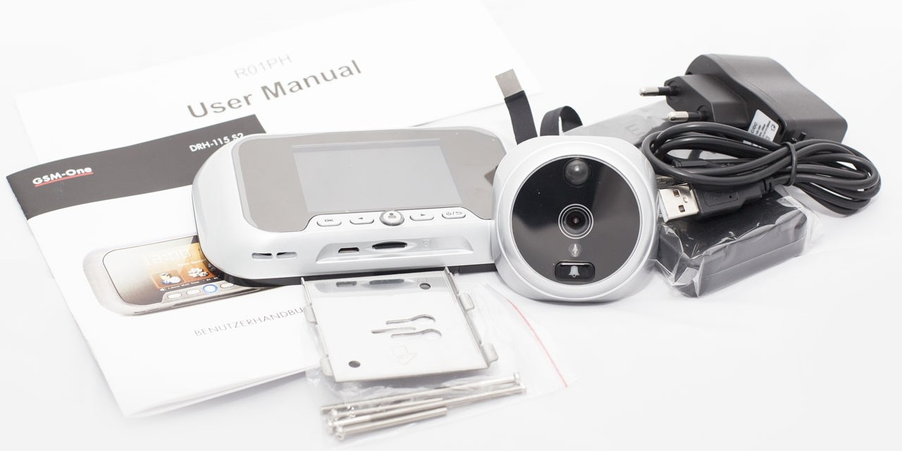 Lieferumfang GSM-One Türspionkamera